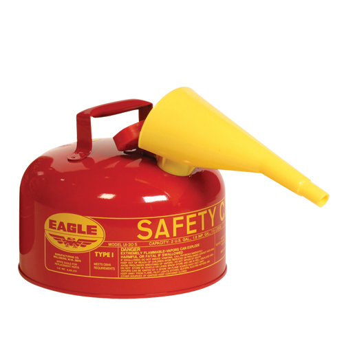 Eagle UI-20-FS Safety Fuel Can - 2 Gallon w/ Funnel