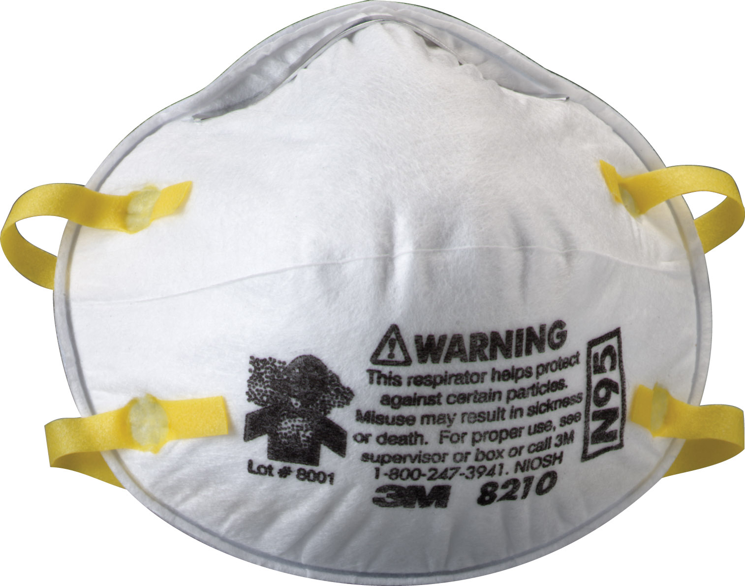 OUT OF STOCK -  NO ESTIMATED RETURN DATE 3M 8210 N95 Particulate Respirator