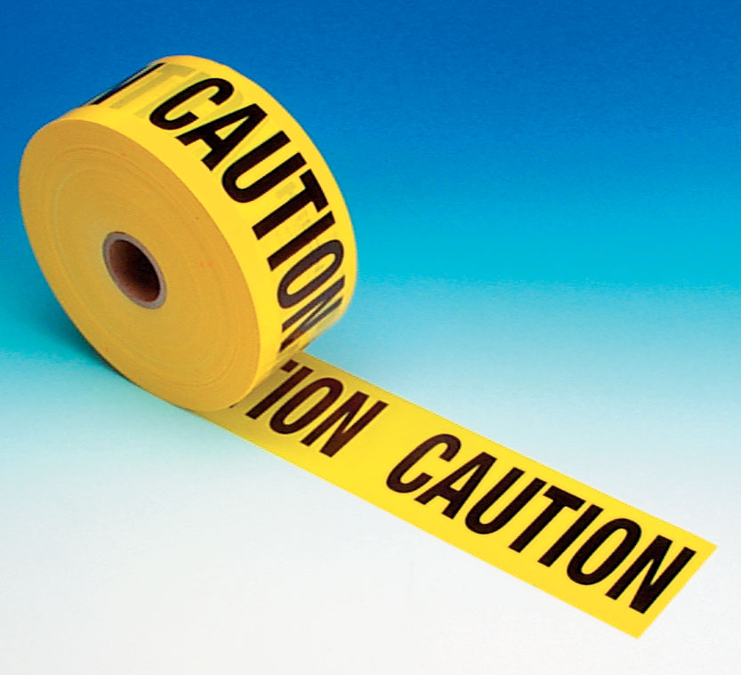 "Caution Tape 3"" x 1,000 FT 2Mil Yellow Economy Grade"