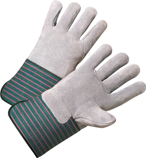 """Full Leather Palm & Back Work Gloves - XL, 4-1/2"""" Cuff"""