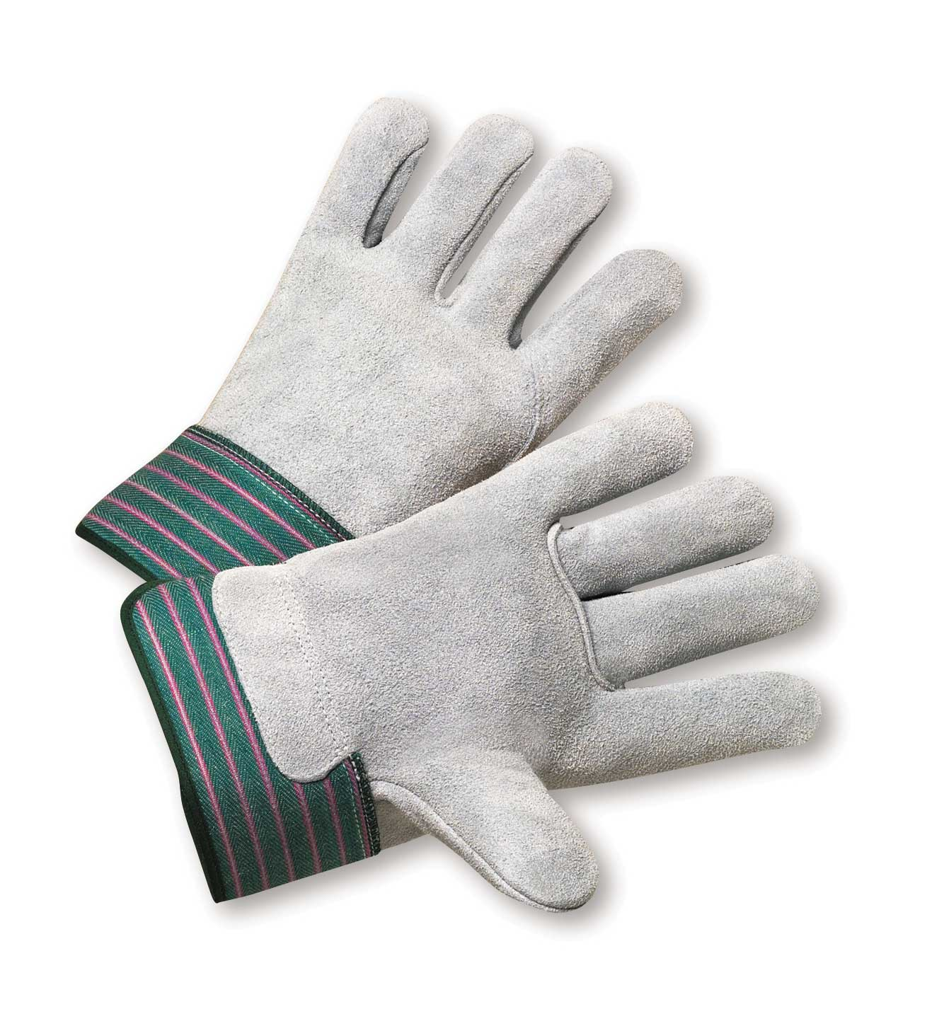"Full Leather Palm & Back Work Gloves - L, 2-1/2"" Cuff"