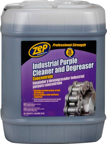 Diamond tool zep zu08565g industrial purple cleaner for Commercial degreaser for concrete