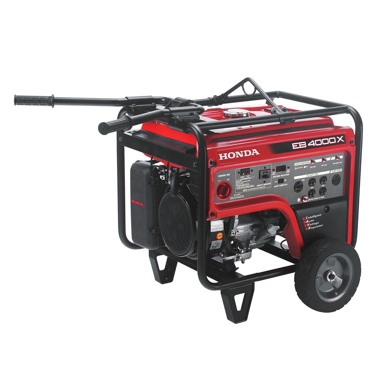 Honda EB4000XAT 4000W Gas Generator 3500W Rated Recoil Start - W/ Wheel Kit