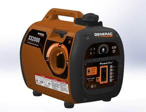 Generac 6866 IX2000 Inverter Generator 2000W Rated Quiet, Gas