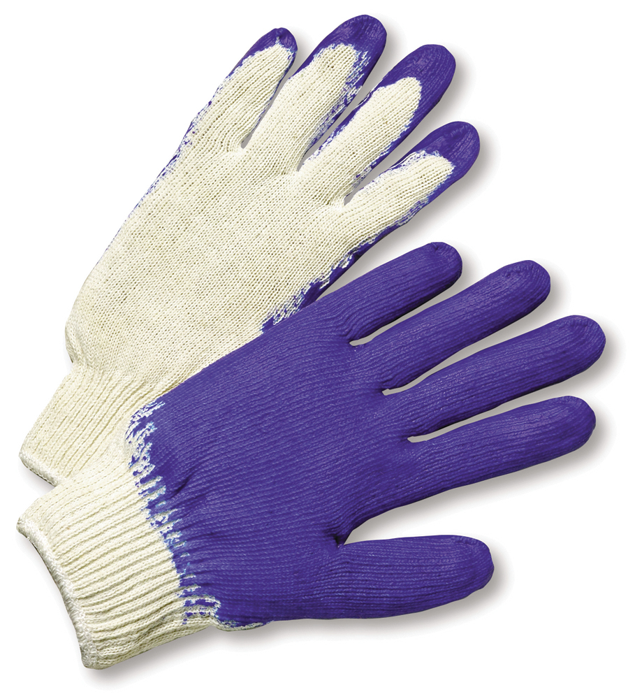 Blue Palm String Knit Gloves - L, 12 Pair/Per Pack