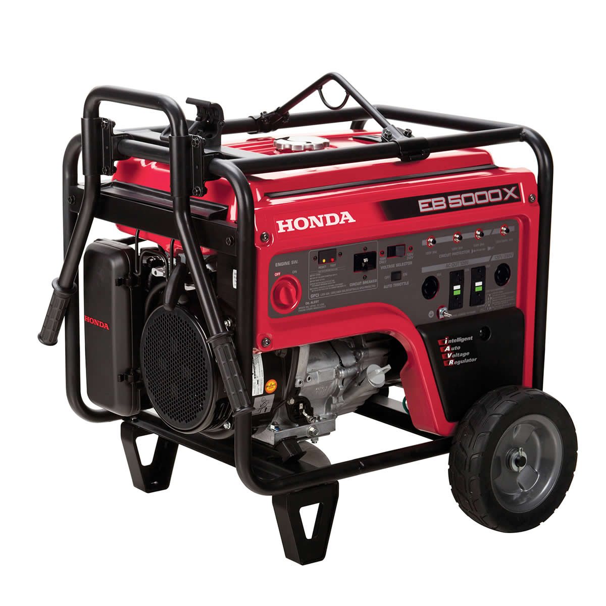 Honda 5000W Industrial/Commercial Generator - 4500W Rated, Recoil Start w/