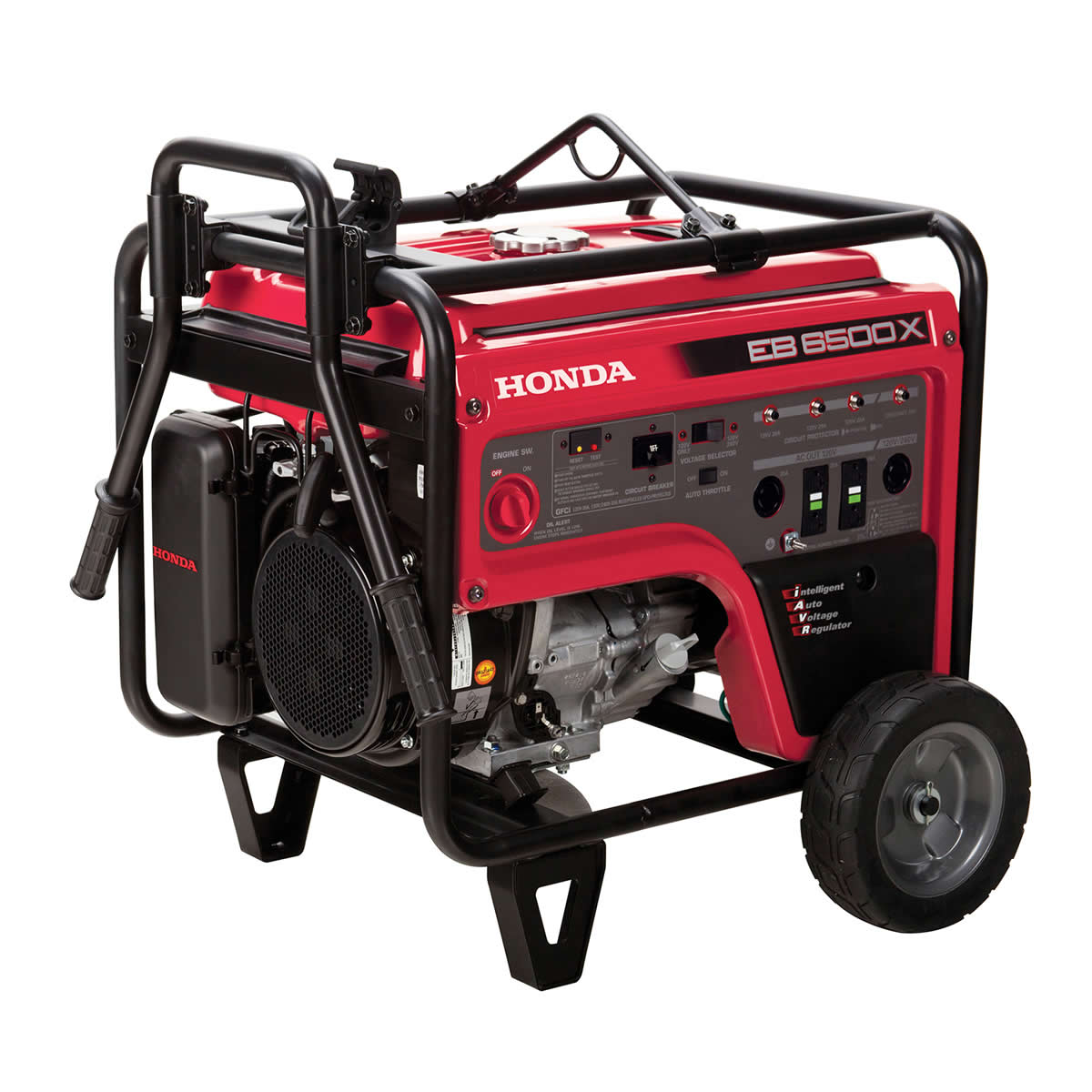 Honda 6500W Industrial/Commercial Generator - 5500W Rated, Recoil Start w/