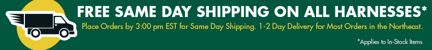 Free Shipping on all safety harnesses