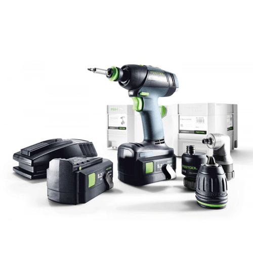 diamond tool festool 564575 1 2 t 18 3 cordless drill set 18v 5 2ah c. Black Bedroom Furniture Sets. Home Design Ideas